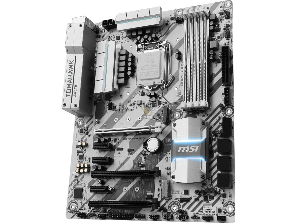 MSI Z270 TOMAHAWK ARCTIC Motherboard | VideoCardz net