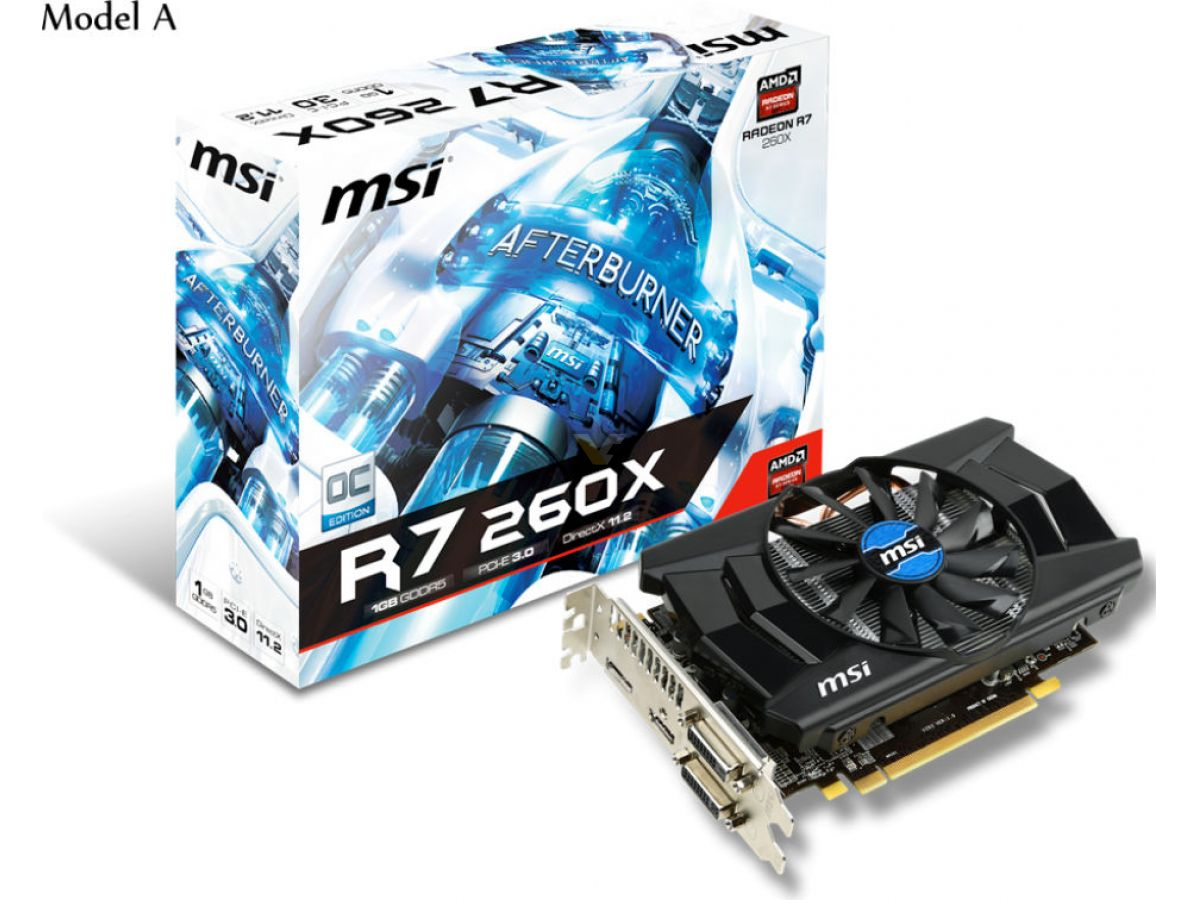MSI Radeon R7 260X 1GB | VideoCardz net