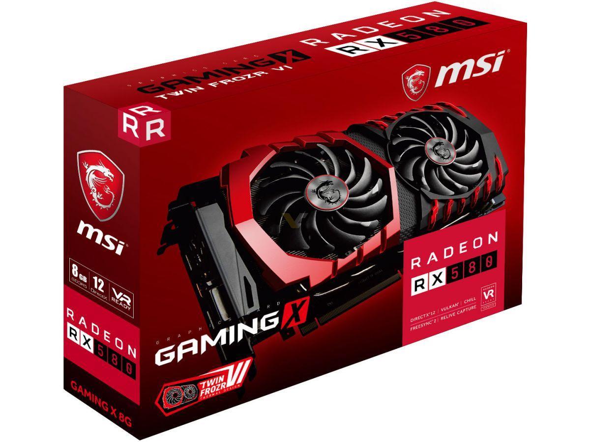 msi radeon rx 580 gaming x 4g 4gb