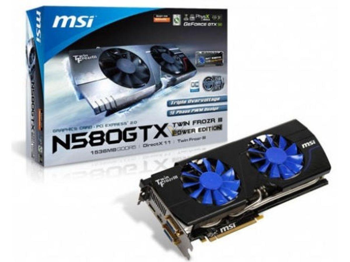 Msi geforce gtx 580 1536mb twin frozr iii power edition oc.