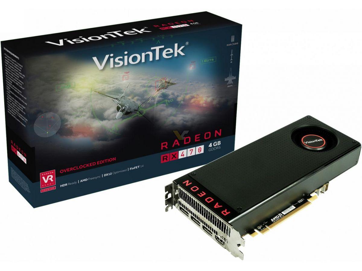 VISIONTEK Radeon RX 470 4GB Overclocked Edition | VideoCardz net