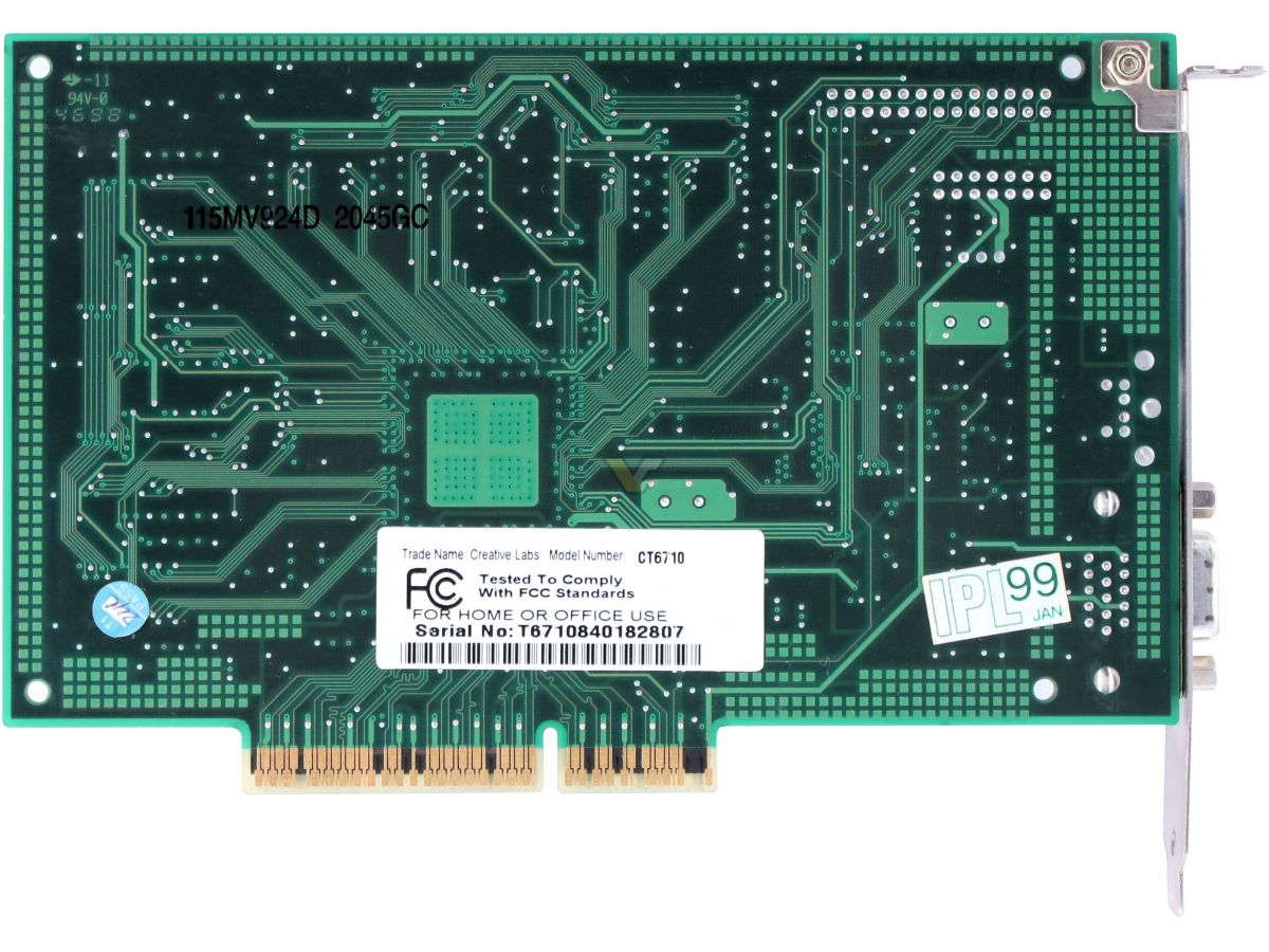 Riva nvidia tnt2 m64 16mb pci 3d video card.