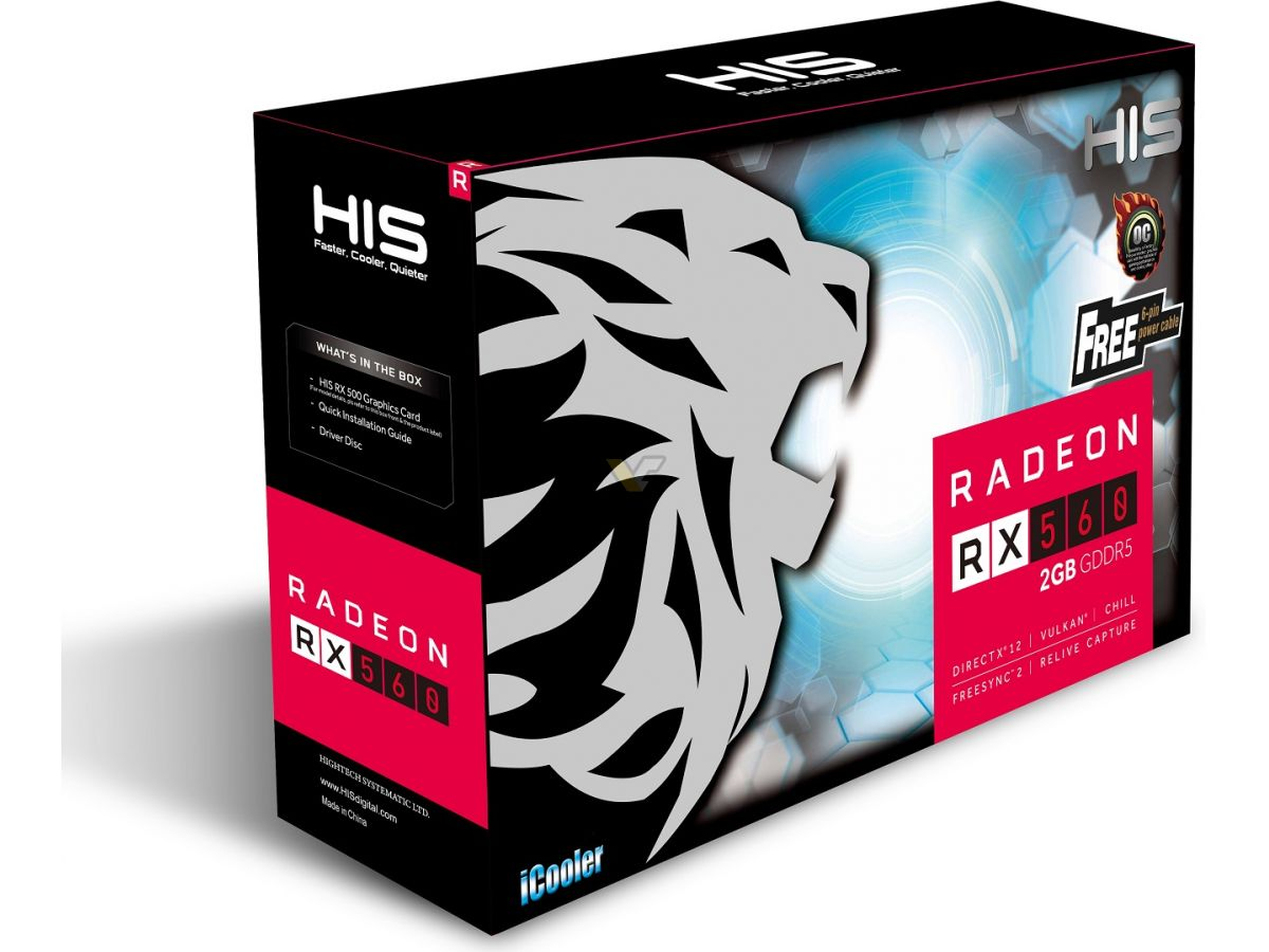 HIS Radeon RX 560 2GB iCooler OC   VideoCardz net