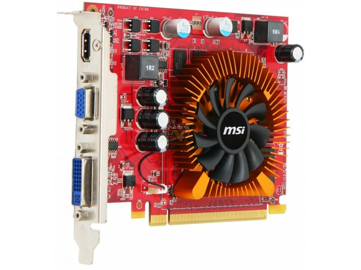 Msi Geforce Gt 220 1gb Vga Card Gt220 Box Angle Front Other